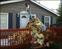 Burke attic insulation replacement